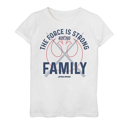 Girls' 7-16 Star Wars Force Is Strong With This Family Graphic Tee