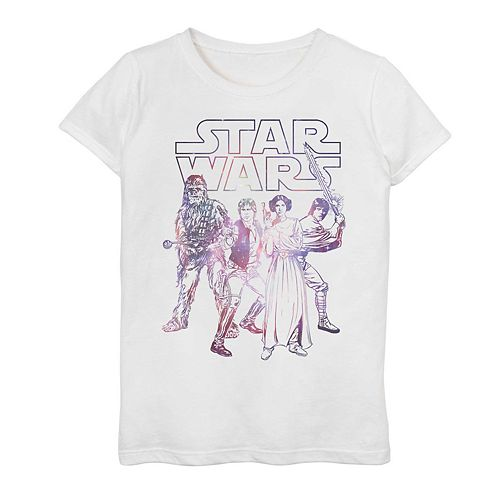 Girls' 7-16 Star Wars Rebel Group Graphic Tee