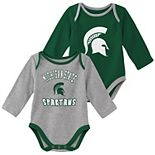 Baby Boy Michigan State Spartans 2-Piece Trophy Creeper Set
