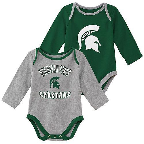 Baby Boy Michigan State Spartans 2-Piece Trophy Creeper Set