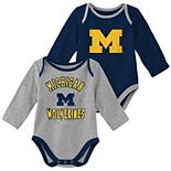 Baby Boy Michigan Wolverines 2-Piece Trophy Creeper Set