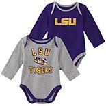 Baby Boy LSU Tigers 2-Piece Trophy Creeper Set