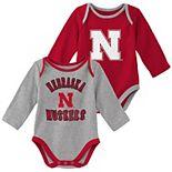 Baby Boy Nebraska Cornhuskers 2-Piece Trophy Creeper Set