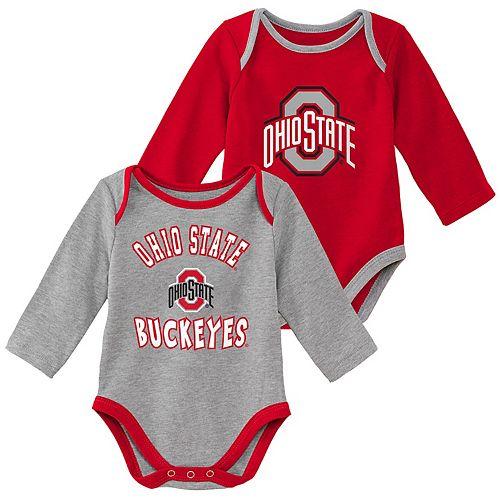Baby Boy Ohio State Buckeyes 2-Piece Trophy Creeper Set