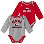 Baby Boy Georgia Bulldogs 2-Piece Trophy Creeper Set