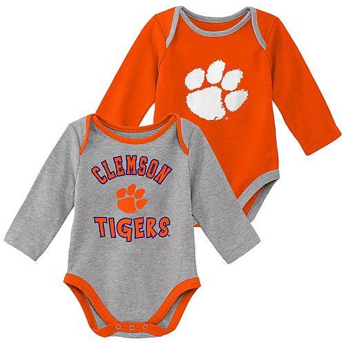 Baby Boy Clemson Tigers 2-Piece Trophy Creeper Set