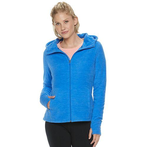 Petite Tek Gear® Hooded Micro Fleece Jacket