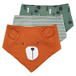 Baby Boy Mac & Moon 3-Pack Forest Print Bandana Bibs