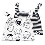 Baby Mac & Moon 2-Pack Sheep Print Top Knot Caps