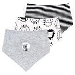 Baby Mac & Moon 3-Pack Sheep Print Bandana Bibs