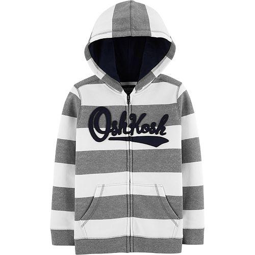 Boys 4-14 OshKosh B'gosh® Striped Logo Hoodie