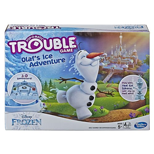 Disney's Frozen 2 Trouble Game Olaf's Ice Adventure by Hasbro
