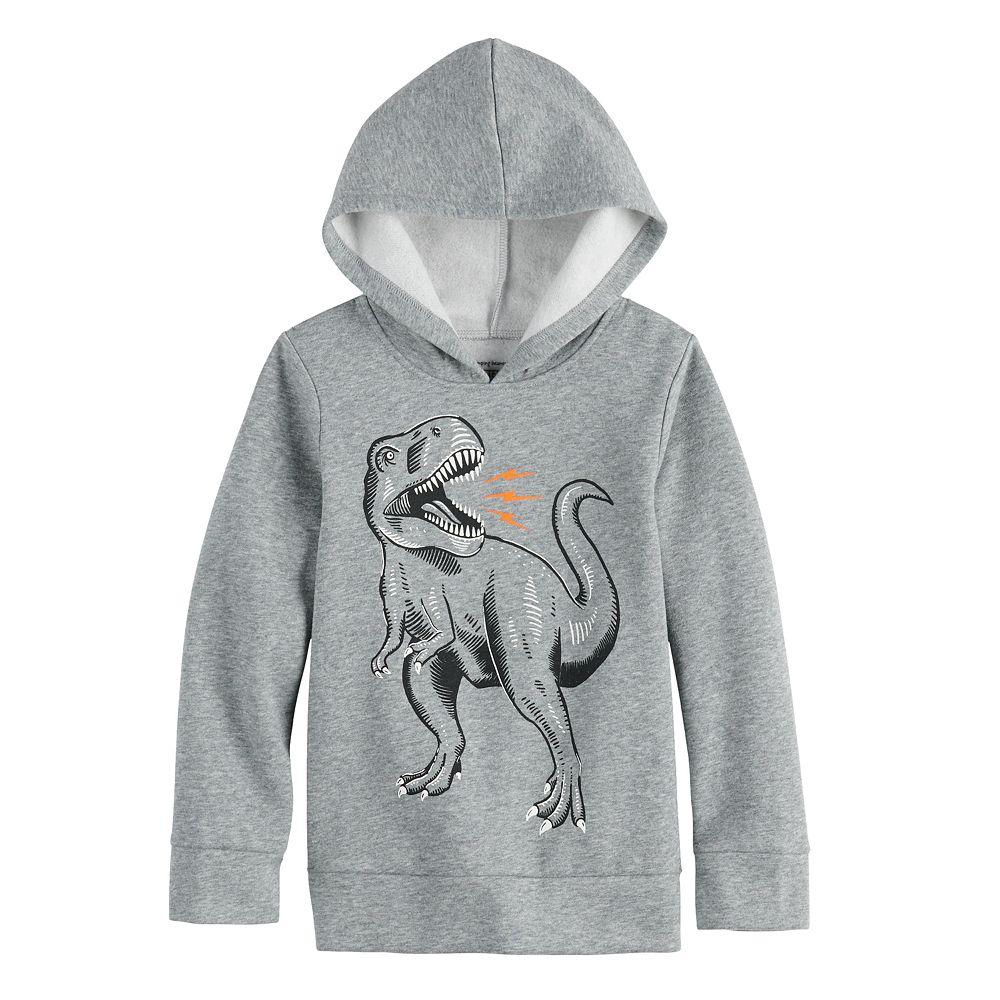 Boys 4-12 Jumping Beans® Dinosaur Pullover Pieced Fleece