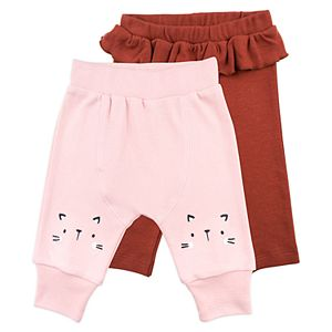 Baby Girl Mac & Moon 2-Pack Pants Set