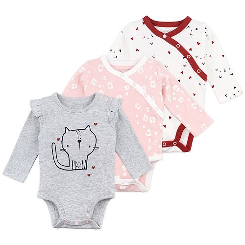 Baby Girl Mac & Moon 3-Pack Long Sleeve Bodysuits