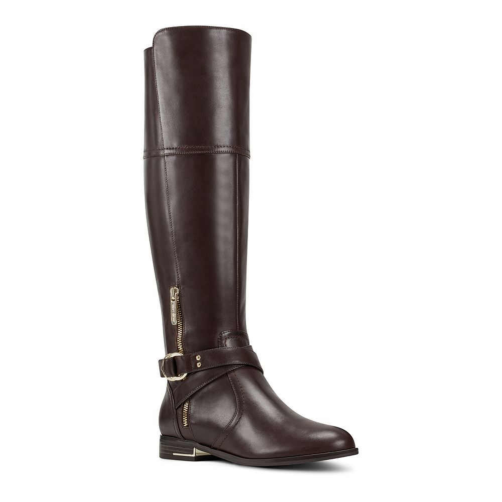 Nine West Linore Women's Leather Tall Riding Boots