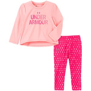 Baby Girl Under Armour Graphic Tee & Leggings Set