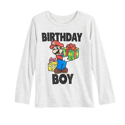 Boys 4-12 Jumping Beans® Super Mario Bros. Birthday Boy Long-Sleeve Tee