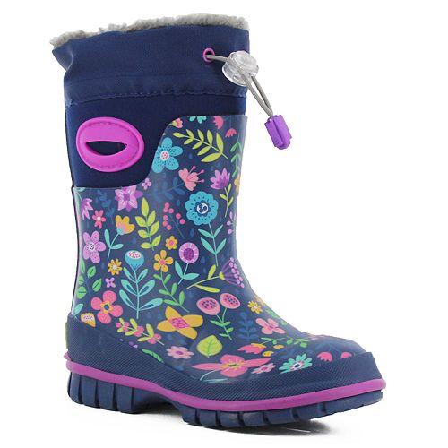 Western Chief Folksy Floral Girls' Waterproof Winter Boots