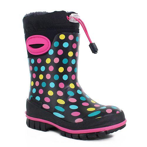 Western Chief Rainbow Dot Girls' Waterproof Winter Boots