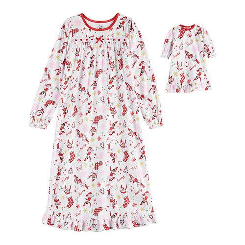 Girls 4-10 The Elf on the Shelf Nightgown & Doll Gown