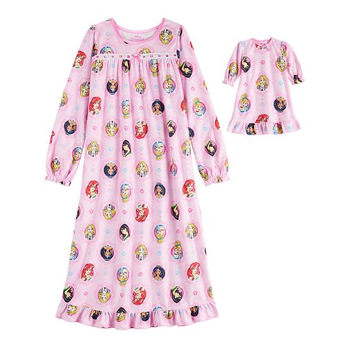 Disney's Princess Girls 4-16 Nightgown & Doll Gown