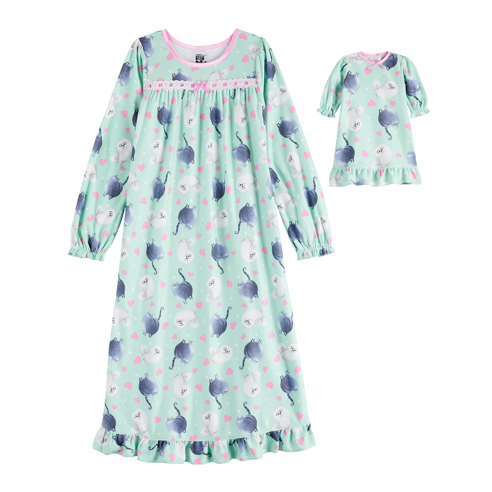 Girl's 4-10 Secret Life of Pets Granny Nightgown & Doll Gown