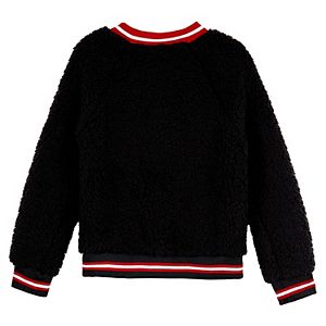 "Girls 7-16 IZ Amy Byer ""Shine"" Sherpa Raglan Sweatshirt"