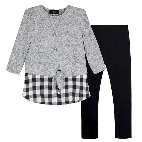 Girls 7-16 IZ Amy Byer 2-piece Mock Layer Top & Leggings Set