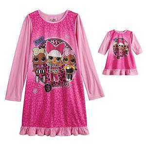 Girls 4-10 L.O.L. Surprise! Dorm Nightgown & Doll Nightgown