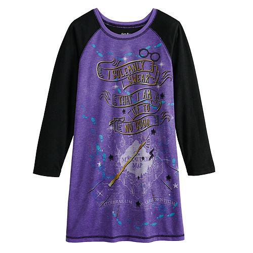 Girls 6-12 Harry Potter Long Sleeved Nightgown