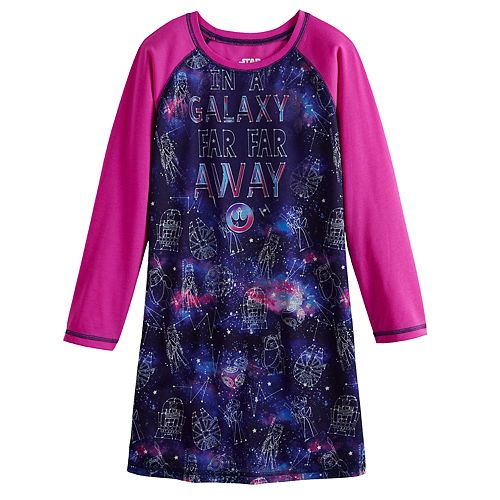 Girl's 6-14 Star Wars Galaxy Dorm Nightgown