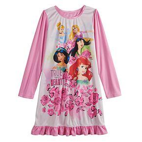 Girls 4-10 Disney Princesses Long Sleeved Nightgown