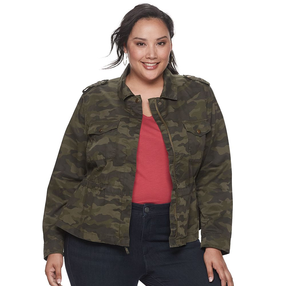 Plus Size EVRI™ Cropped Utility Jacket