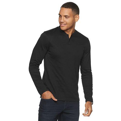 Men's Marc Anthony Long Sleeve Slim-Fit Luxury Henley