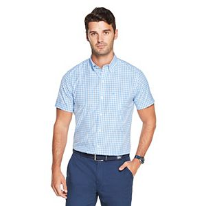 Men's IZOD Sportswear Checked Performance Button-Down Shirt