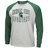 Men's Michigan State Spartans Raglan Sleeve Fleece