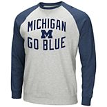 Men's Michigan Wolverines Raglan Sleeve Fleece