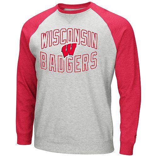 Men's Wisconsin Badgers Raglan Sleeve Fleece