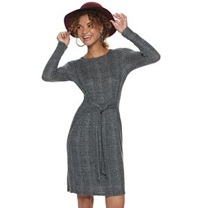 Women's Apt. 9® Knot-Waist Long Sleeve Dress