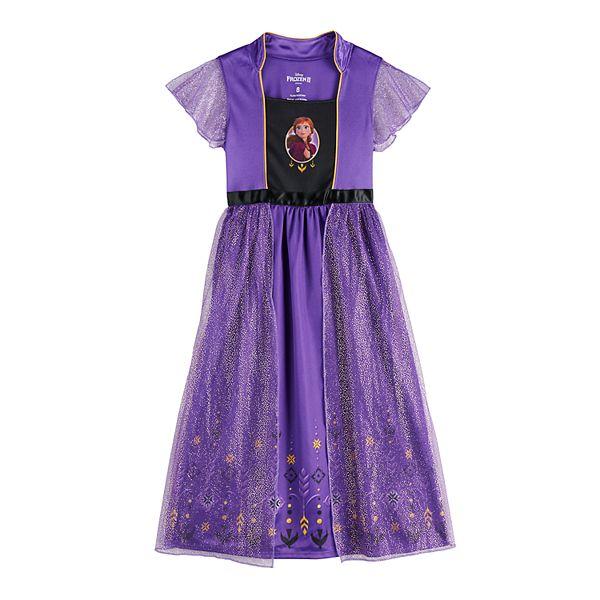 Disney S Frozen 2 Anna Girls 4 8 Fantasy Gown Nightgown