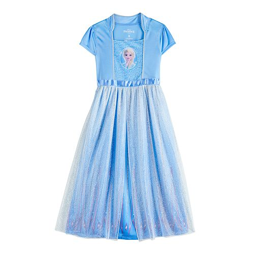 Disney's Frozen 2 Elsa Girls 4-8 Fantasy Gown Nightgown