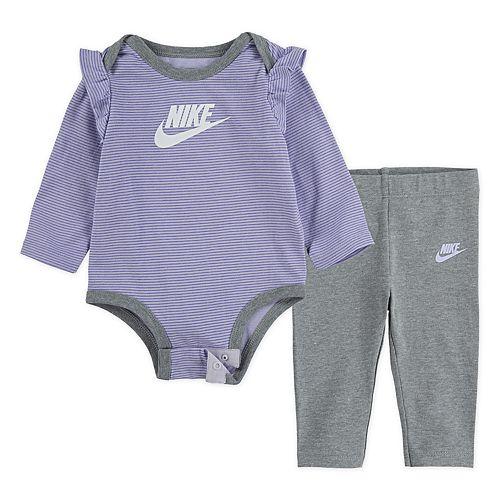 Baby Girl Nike 2-Piece Ruffle Bodysuit & Leggings Set