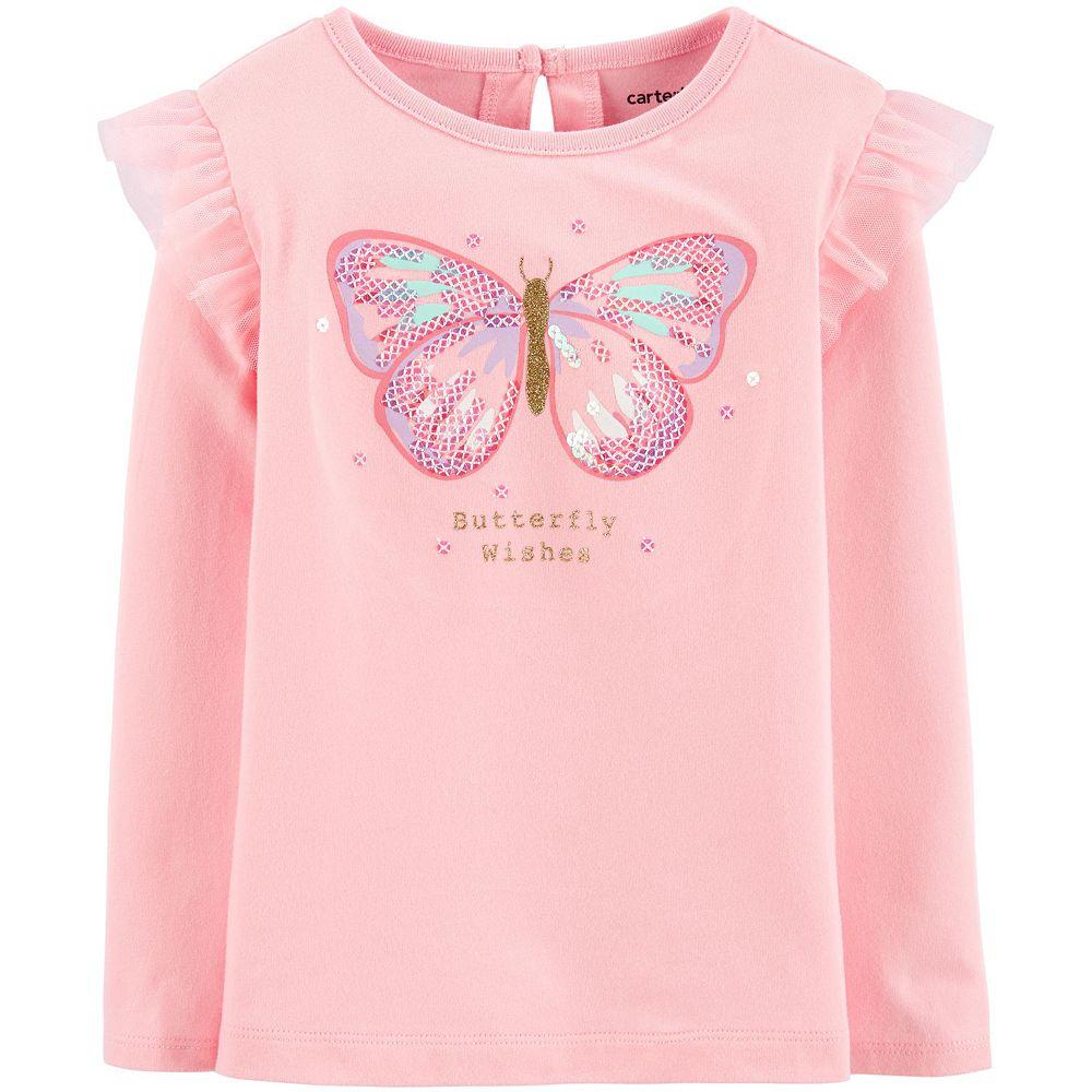 Toddler Girl Carter's Butterfly Flutter Jersey Tee