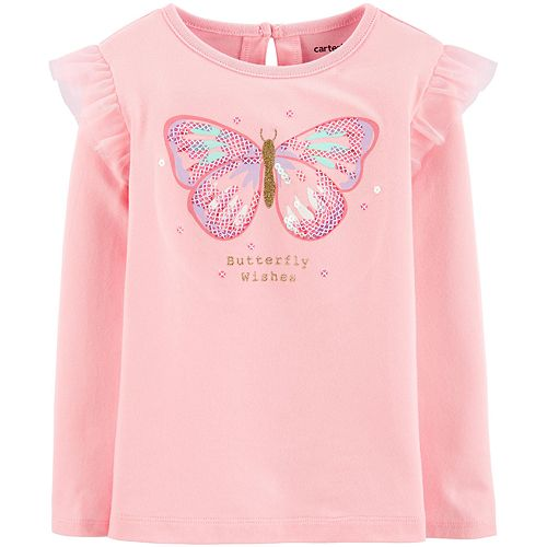 Toddler Girl Carter's Butterfly Flutter Jersey Tee