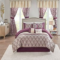 Madison Park Luciana 7-piece Queen Comforter Set with Coordinating Pillows