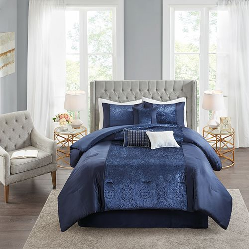 Madison Park Christella Velvet 7-Piece Comforter Set