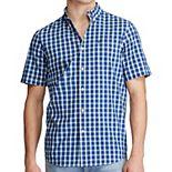 Big & Tall Chaps H-Fashion Printed Button Up Shirt