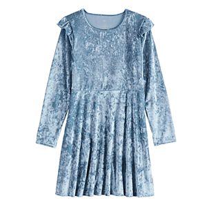 Girls 7-16 & Plus Size SO® Ruffle Velvet Dress