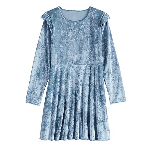 Girls 7-16 & Plus Size SO® Ruffle Velvet Dress